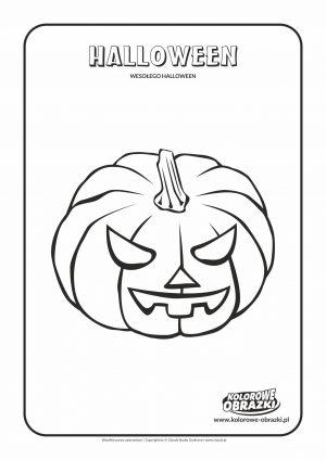 Kolorowanka dynia Halloween - Kolorowanki Halloween