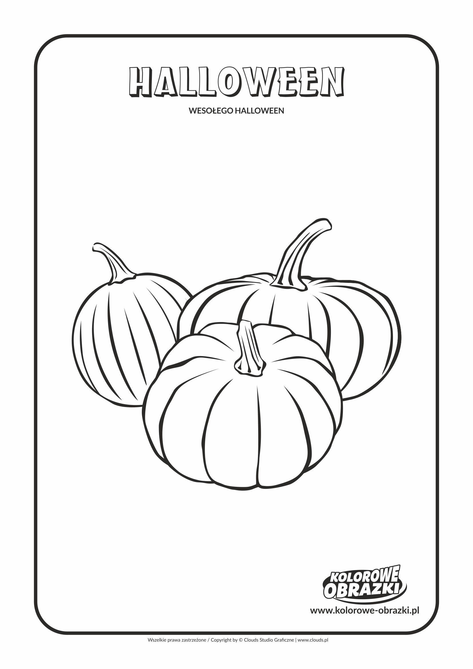 Kolorowanki Halloween - Dynie Halloween