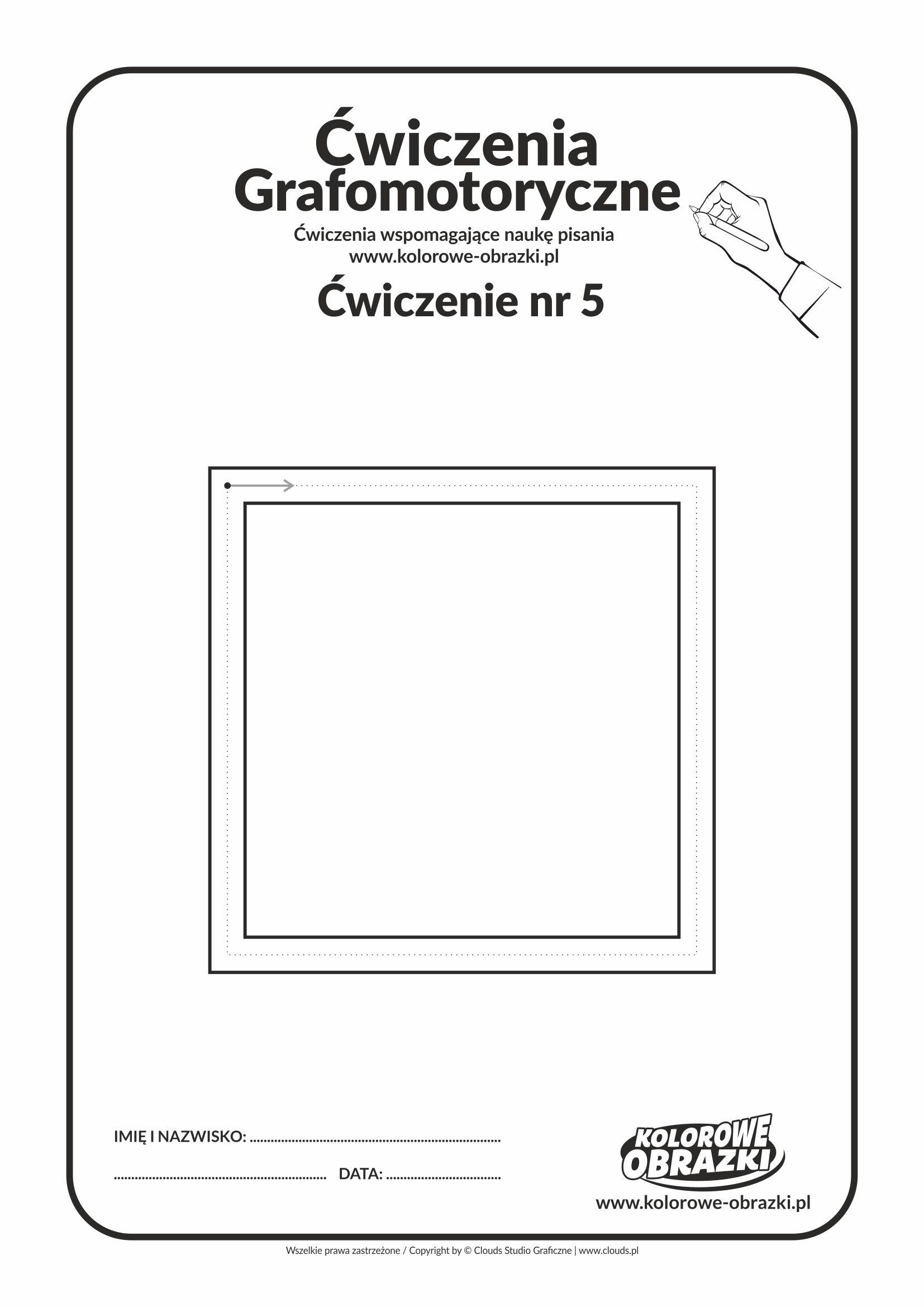 Ćwiczenia grafomotoryczne dla dzieci - ćwiczenie nr 5