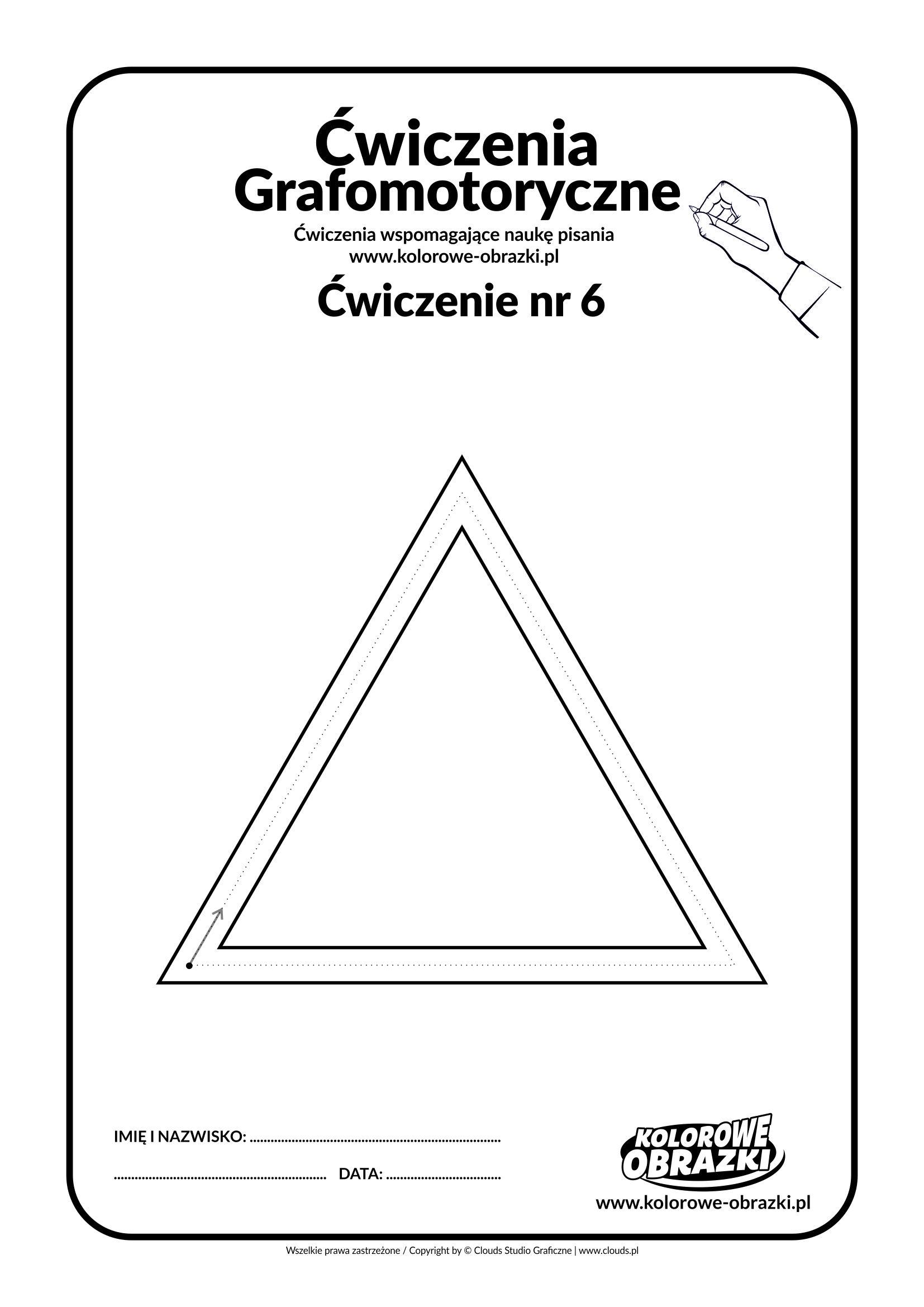 Ćwiczenia grafomotoryczne dla dzieci - ćwiczenie nr 6