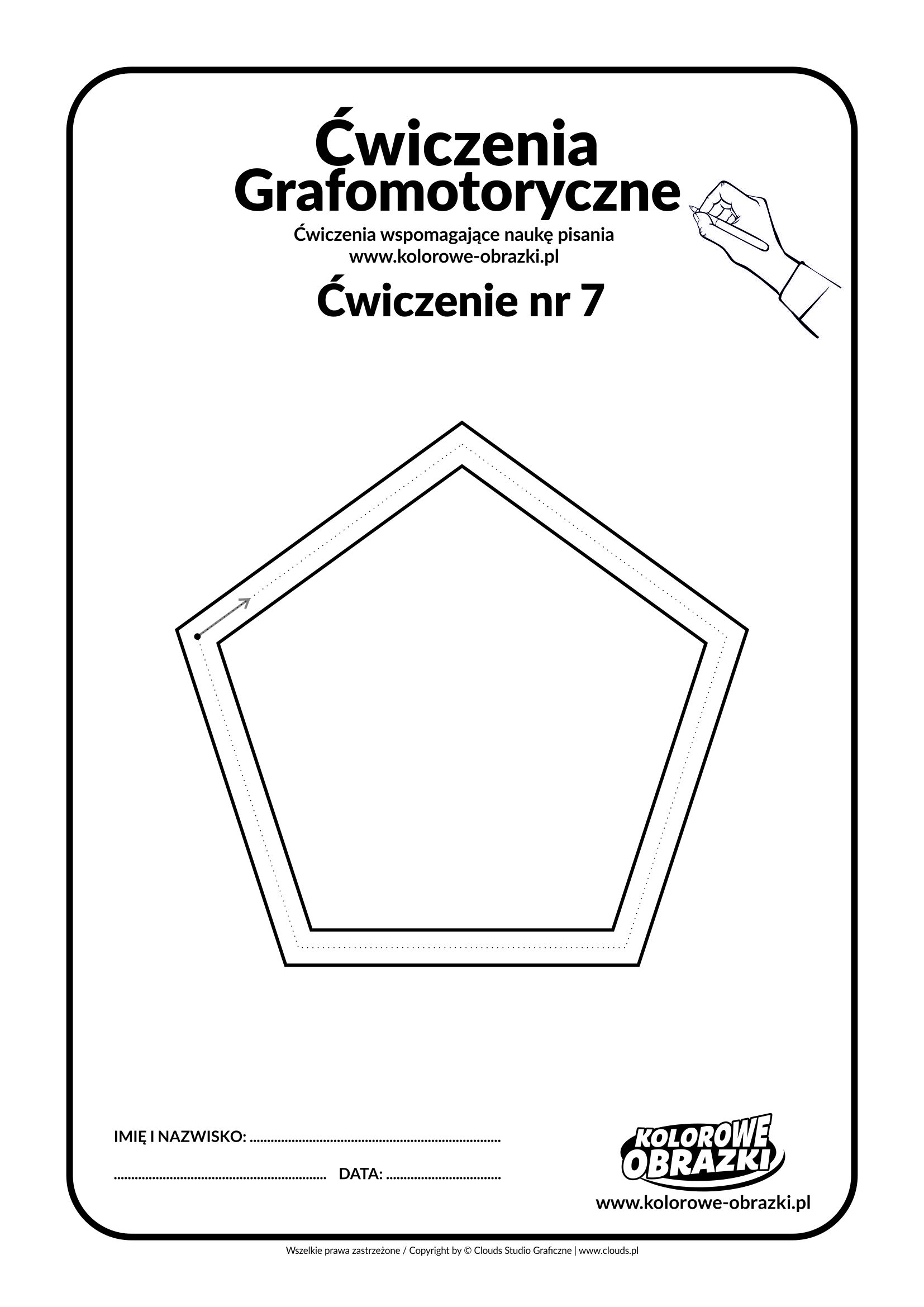Ćwiczenia grafomotoryczne dla dzieci - ćwiczenie nr 7