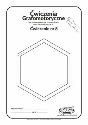 Ćwiczenia grafomotoryczne dla dzieci - ćwiczenie nr 8