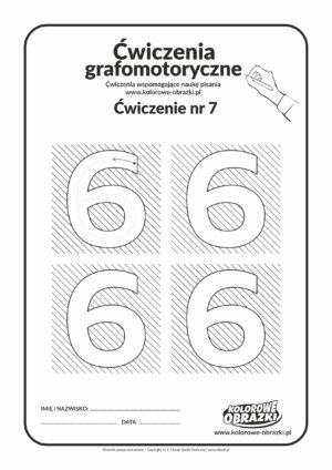 Ćwiczenia grafomotoryczne - cyfra 6