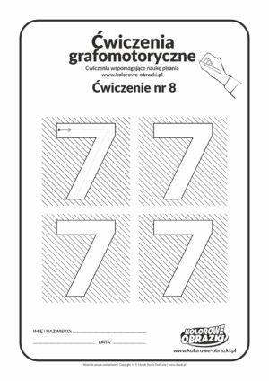 Ćwiczenia grafomotoryczne - cyfra 7